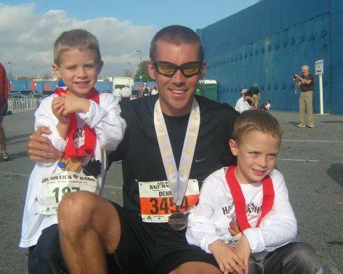 After the Atlanta Half Marathon, November 2010