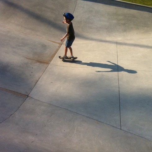Aidan at the Forsyth County Skate Park